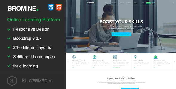 Bromine - Online Learning Platform HTML5 Template - Business Corporate