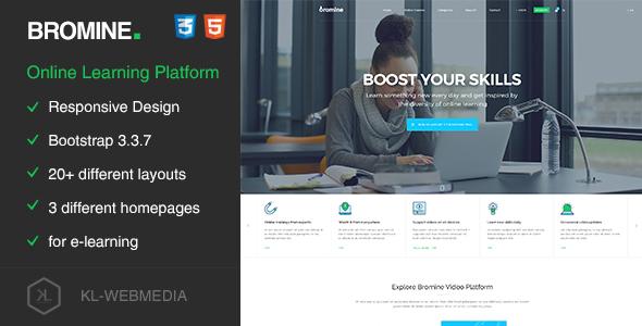 Bromine – Online Learning Platform HTML5 Template