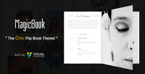 MagicBook - A 3D Flip Book WordPress Theme