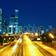 Moscow City At Night With Moon, Moscow International Business Center. - VideoHive Item for Sale