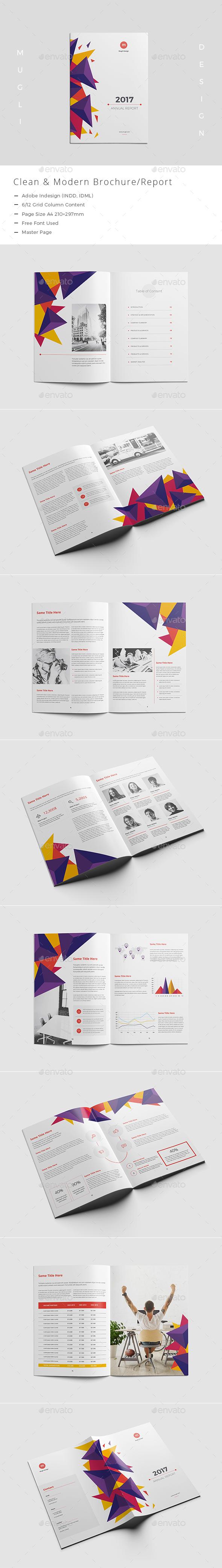 Clean & Modern Brochure/Report - Corporate Brochures