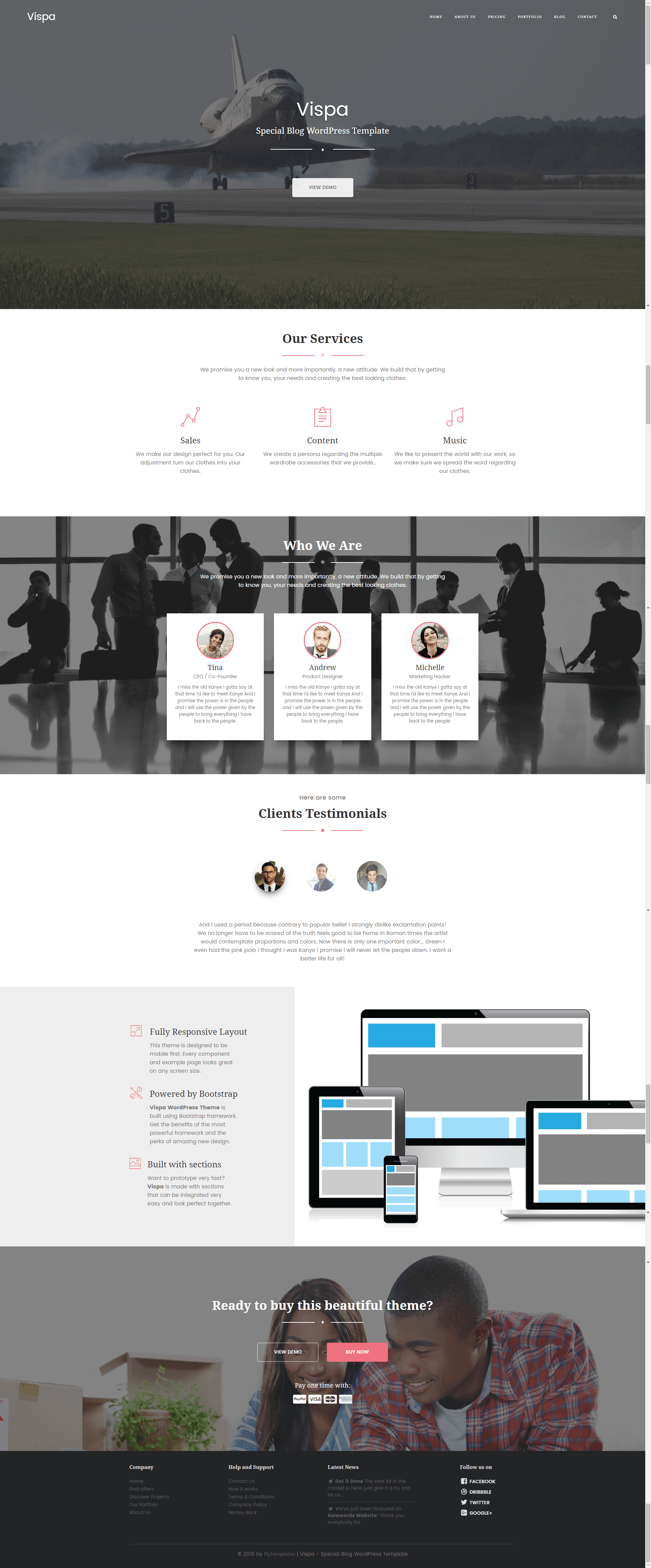 Vispa - Corporate & Business for Startups HTML Template by flytemplates