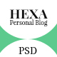Hexa- Personal Blog PSD Template Nulled