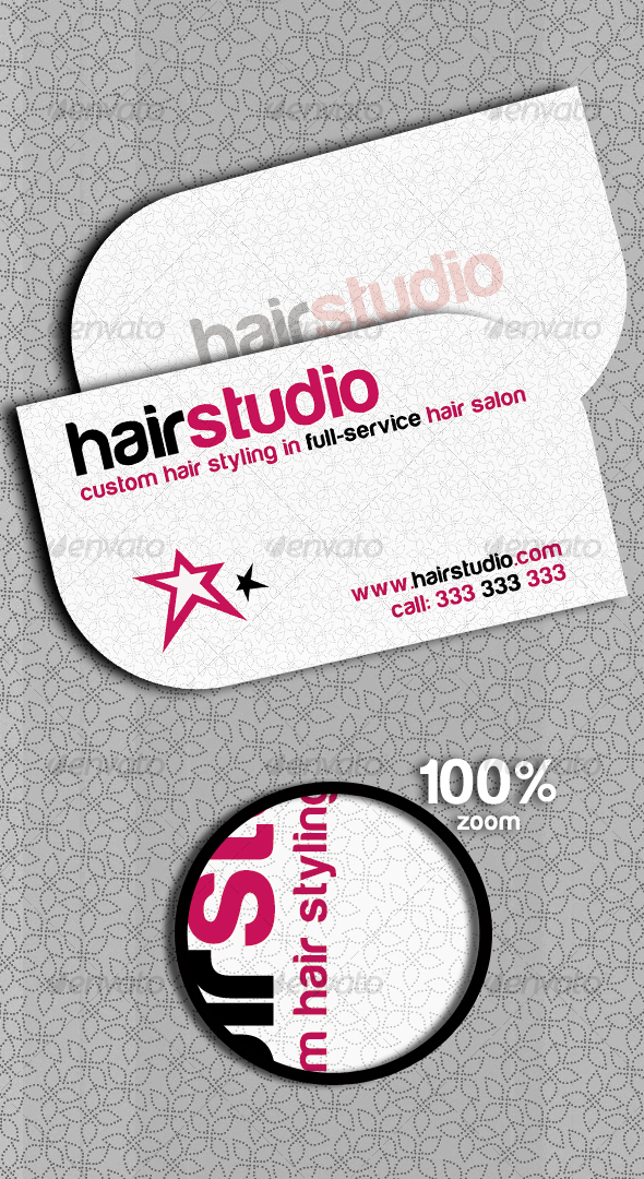 Hair Studio Personal Card - Industry Specific Business Cards