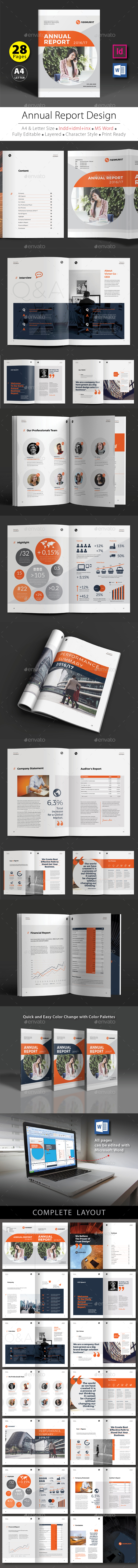 Annual Report Design Template V.4 - Corporate Brochures