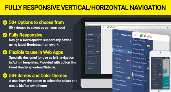 Dropdown Sidebar Menu Responsive Bootstrap Navigation - CodeCanyon Item for Sale
