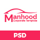 Manhood- Corporate PSD Template - ThemeForest Item for Sale
