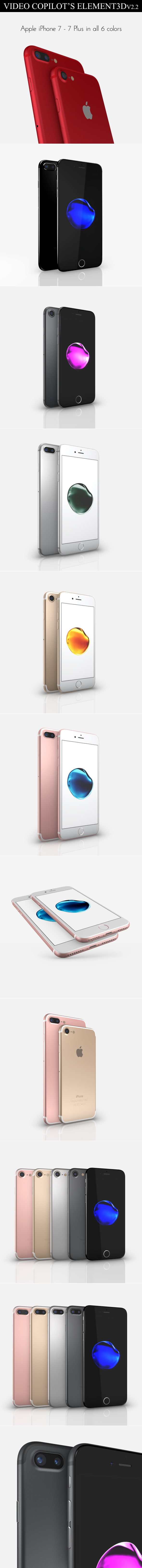 Element3D - iPhone 7 Collection - 3DOcean Item for Sale