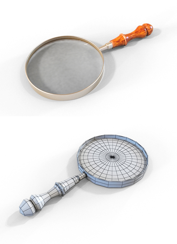 Magnifying Glass - 3DOcean Item for Sale