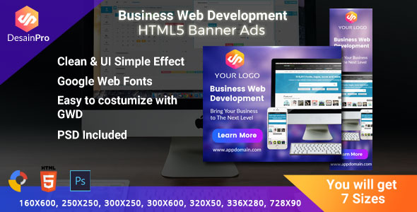 Software Web Development HTML5 Ad Banners - GWD - 7 Sizes - CodeCanyon Item for Sale
