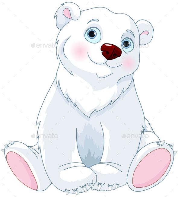 Sitting Polar Bear - Animals Characters