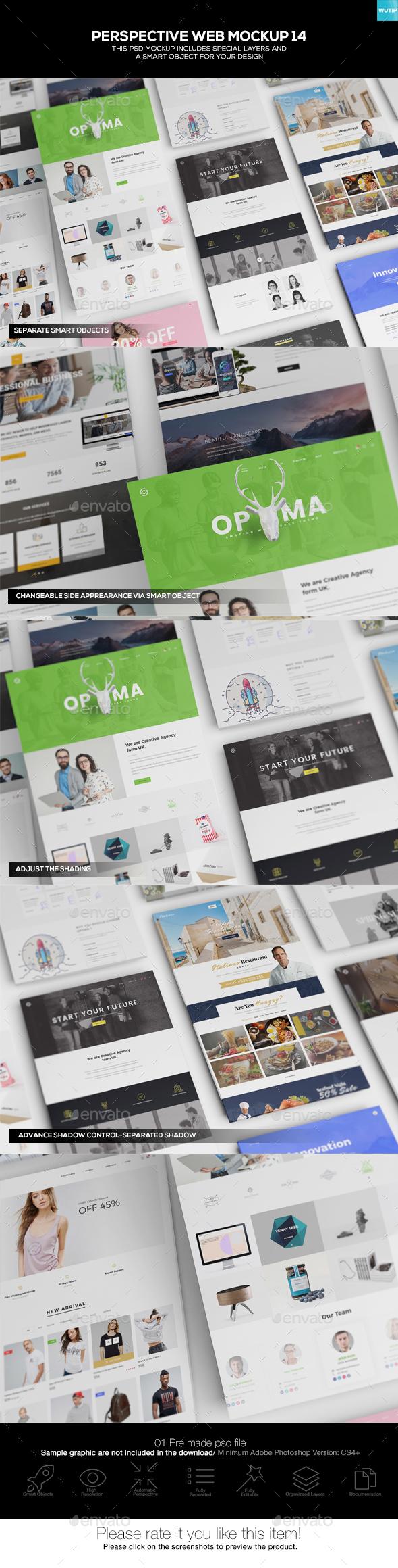 Perspective Web Mockup 14 - Website Displays