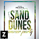 Sand Dunes Party Flyer - GraphicRiver Item for Sale