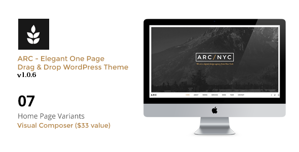 ARC - Elegant Creative One Page WordPress Theme - Creative WordPress