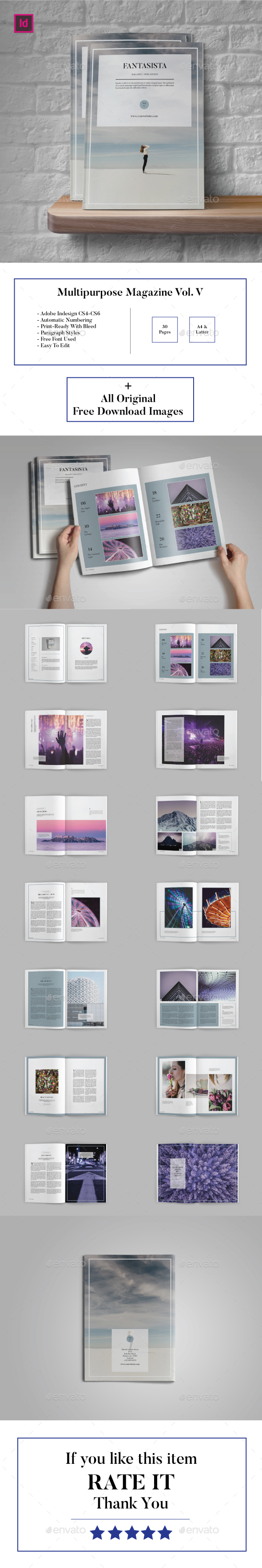 Multipurose Magazine Vol. V (Fantasista) - Magazines Print Templates