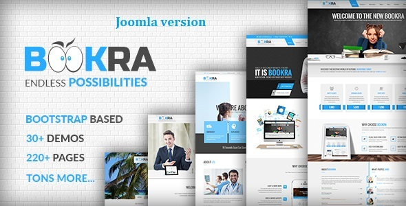 BOOKRA | Multi-Purpose Joomla Template