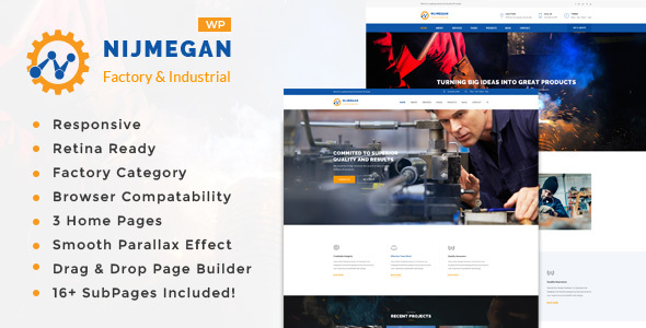 ThemeForest Nijmegan Factory and Industrial Business WordPress Theme 19652638