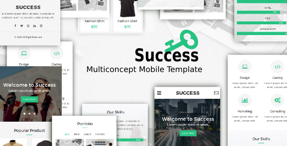 Success – Multiconcept Mobile Template
