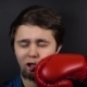 Punch Red Boxing Glove in Face Man - VideoHive Item for Sale