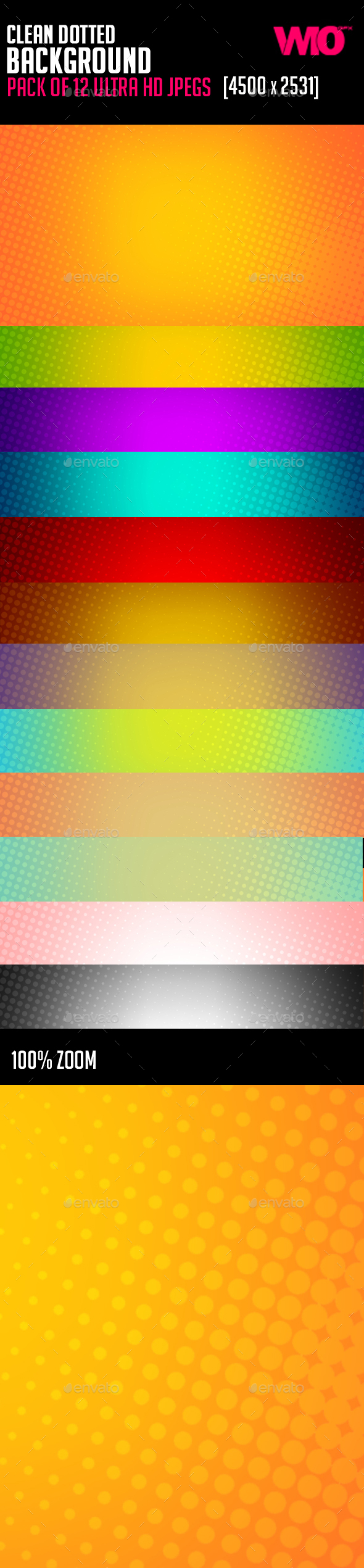 Clean Dotted Background - Backgrounds Graphics