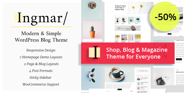 Ingmar – Modern Blog & Magazine WordPress Theme