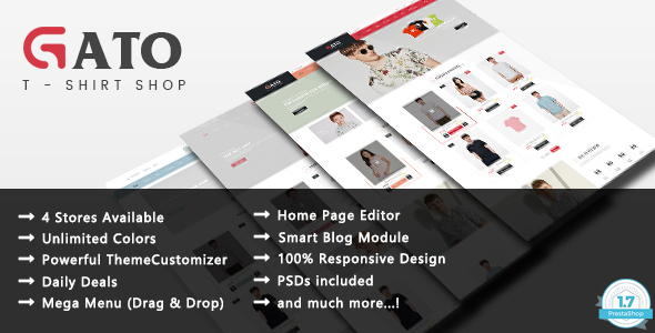 Gato – Fashion Responsive Prestashop 1.7 Theme