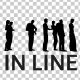 People Silhouettes Standing in Line - VideoHive Item for Sale