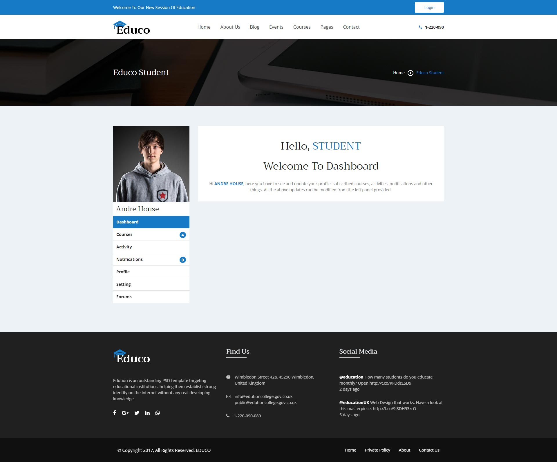 Educo Elearning Education Bootstrap Html Template