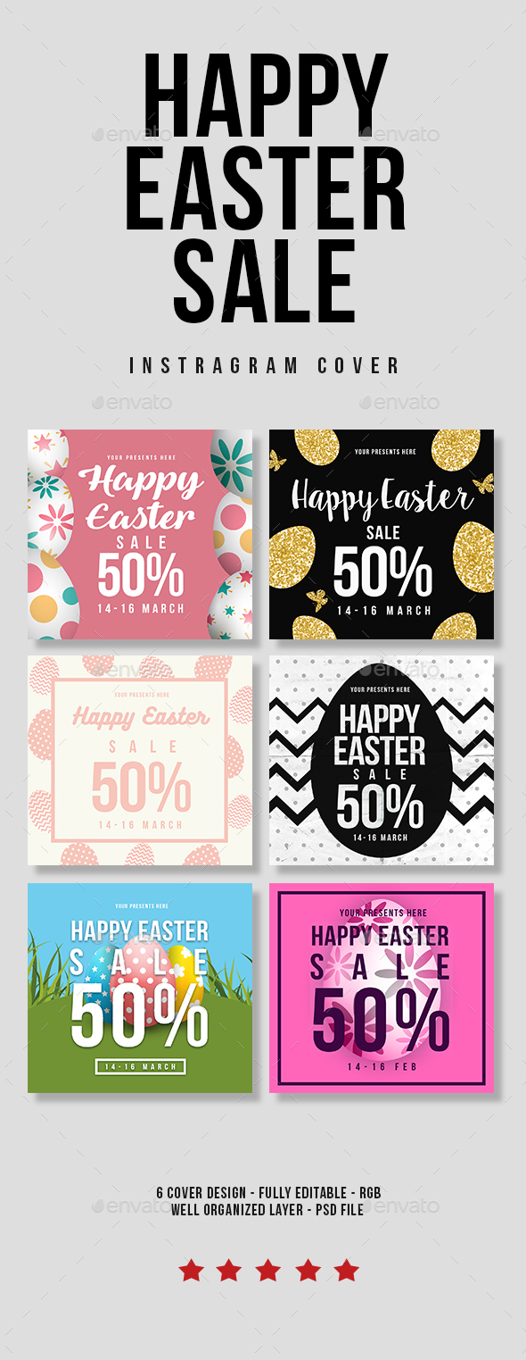 Happy Easter Sale - Social Media Web Elements