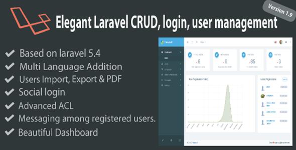 Elegant Laravel CRUD - Login & User Management - CodeCanyon Item for Sale