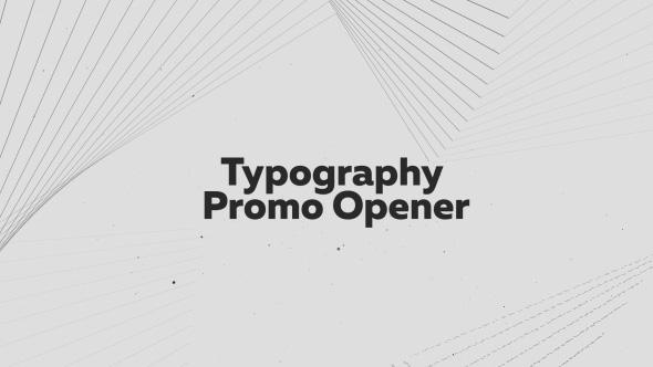 Typography Promo Opener