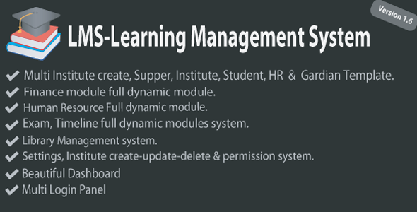 LMS - Learning Management - Institute Management System - CodeCanyon Item for Sale