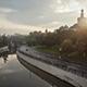 Moscow, the River Yauza, Kostomarovskaya and Andronevskaya Embankments.