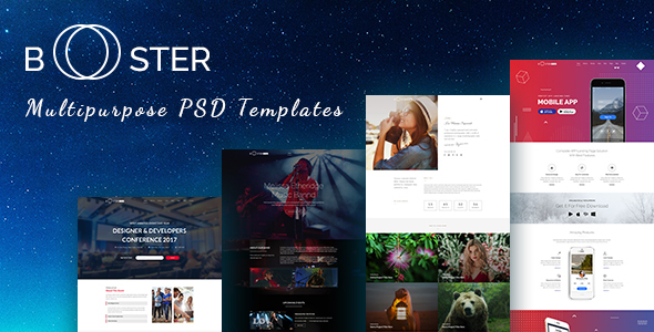 Booster –  Business and multipurpose PSD Template