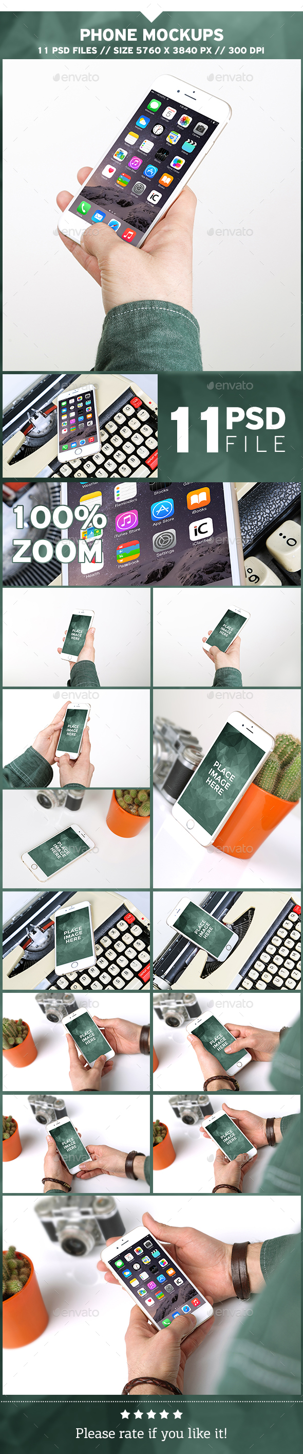 Phone Mockups - Mobile Displays