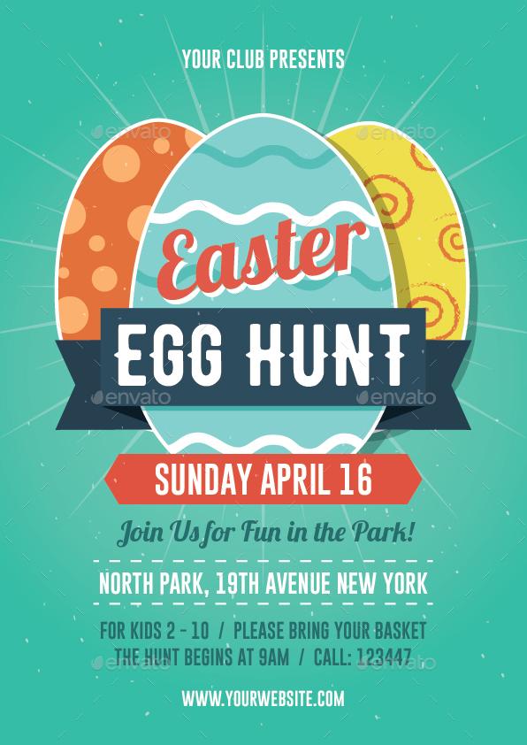 Easter Egg Hunt Flyer by bonezboyz | GraphicRiver