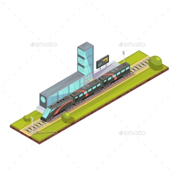 Suburban Train Terminal Composition - Travel Conceptual