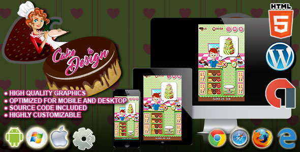 Cake Design - HTML5 Construct 2 Cooking Game - CodeCanyon Item for Sale