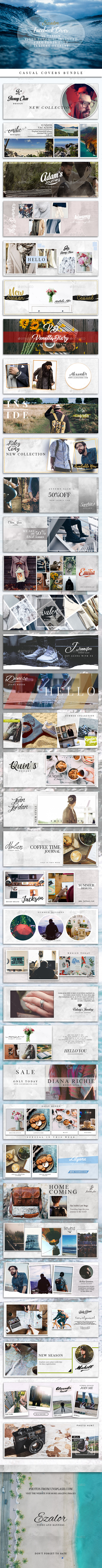 Casual Facebook Covers Bundle - Facebook Timeline Covers Social Media