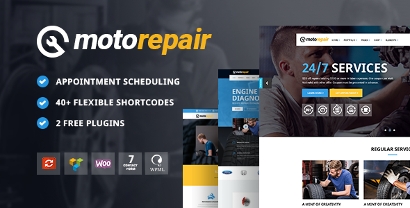 Motorepair – A Professional Theme for Car Mechanics and Workshops