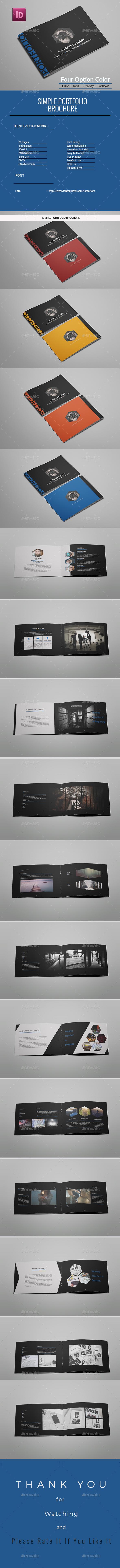 A5 Simple  Portfolio Brochure - Portfolio Brochures
