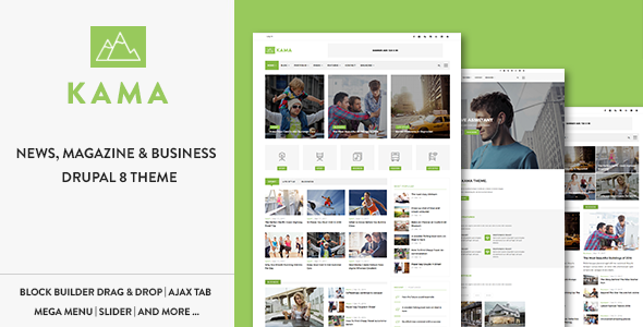 Kama – Responsive Magazine & Business Drupal 8 Theme