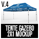 Tente Gazebo 2x1 Mockup Vol 04 - GraphicRiver Item for Sale