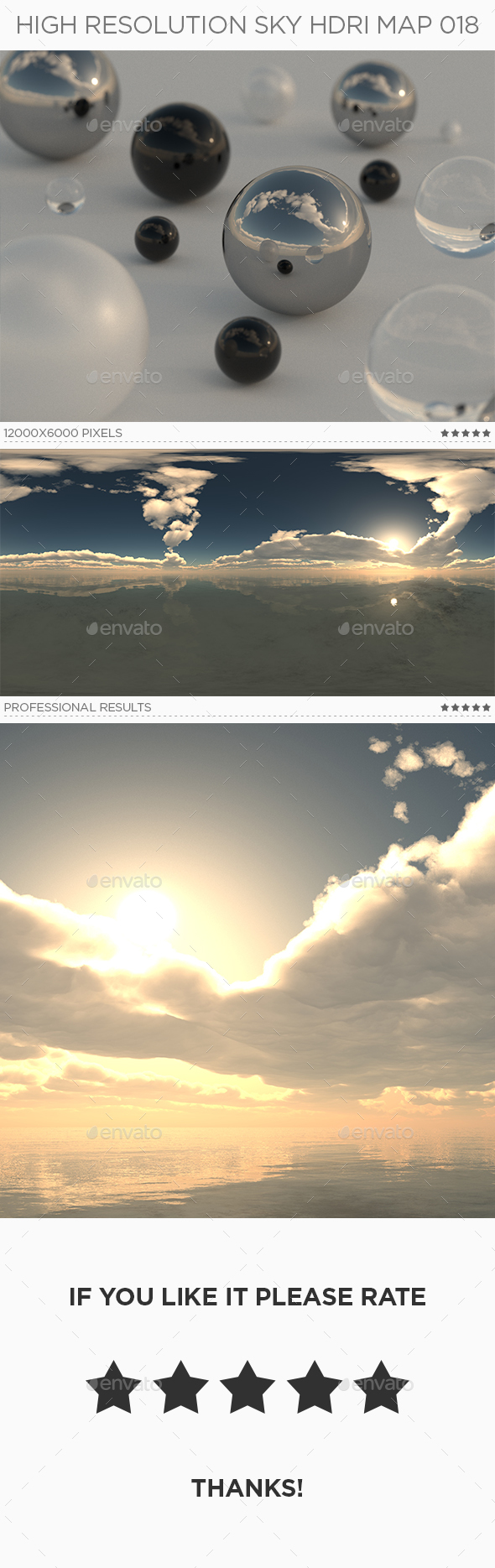 High Resolution Sky HDRi Map 018 - 3DOcean Item for Sale