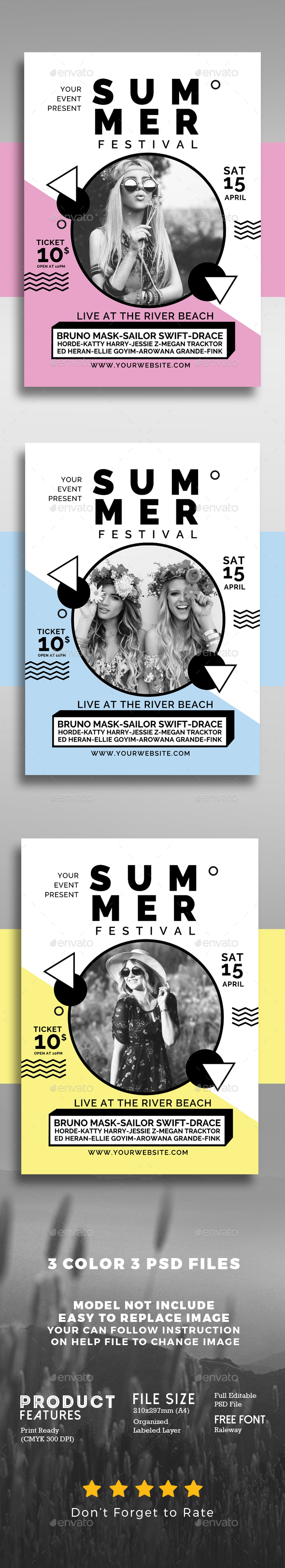 Summer Music Festival - Events Flyers