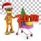 Dog and 2018 - GraphicRiver Item for Sale