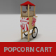 Popcorn cart - 3DOcean Item for Sale