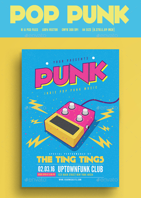 Pop Funk Music Flyer - Flyers Print Templates