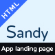 SANDY - One Page Apps Landing Page - ThemeForest Item for Sale