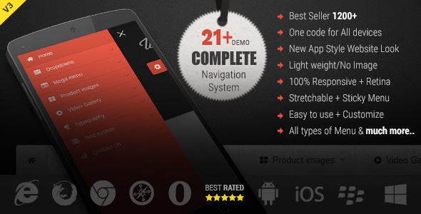 Web Slide - Responsive Mega Menu for Bootstrap 3+ - CodeCanyon Item for Sale